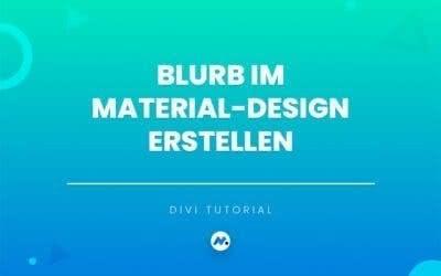 Blurb im Material-Design Style erstellen