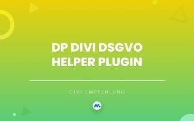 DP Divi DSGVO Helper Plugin