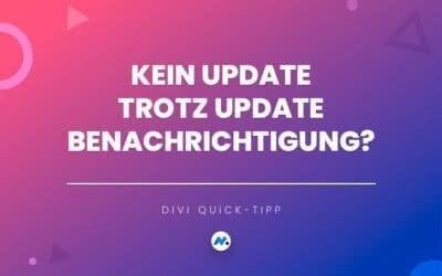 Kein Update trotz Update Benachrichtigung?