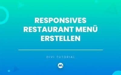Responsives Restaurant Menü erstellen