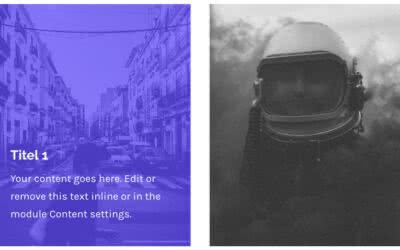 Bilder mit farbigen Text Overlay erstellen