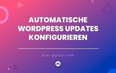 Automatische WordPress Updates konfigurieren