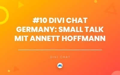 #10 Divi Chat Germany: Small Talk mit Annett Hoffmann