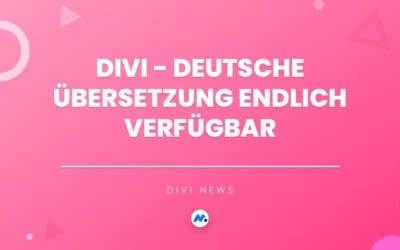 Divi Deutsch Übersetzung